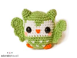 cute green owl amigurumi by adorablykawaii