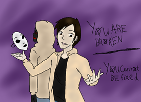 marble hornets fanart (masky x hoody) by TwilightHomicide