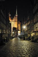 walking at night - Gdansk by shade-pl