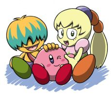 Kirby, Fumu and Bun: BFF by FumuLover