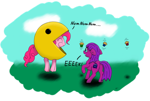 Pacman Pie and Scaredy Ghost by Sesambrot