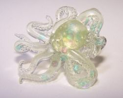 Octopus Resin Adjustable Ring by AknieGirl