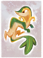 Snivy by BriMercedes