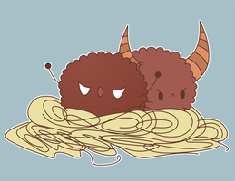 monster meatballs by pronouncedyou