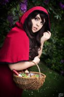 mysterious red riding hood by Beldanndy