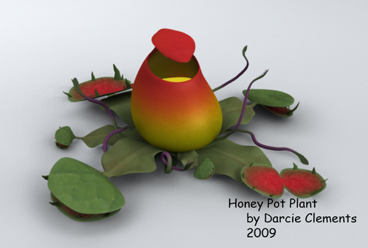 3D Monster - Honey Pot Plant by DrakonLady