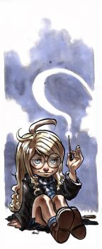 Luna Lovegood like Harry Potter watercolors by MarisaArtist