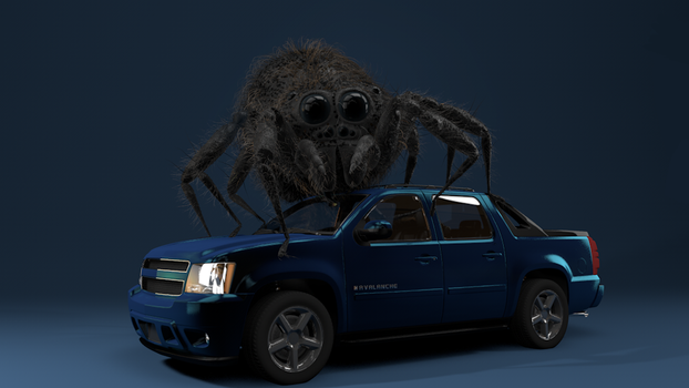 Spider on Car WIP by vozzz