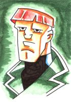 B and B Style Guy Sketch Card by MBrazee