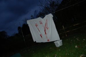 Zombies! Bloodied sheets need drying... by PanicProductionsFilm