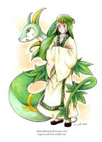 MAGI x PKMN - Ja'far and Serperior by eikomakimachi