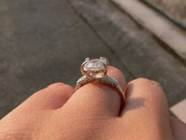 silver ring with zircon 3 by irineja