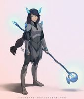 #045 Magical Warrior Girl: The Dragon by SolKorra