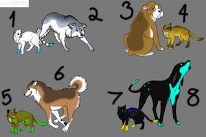 WIC Adoptable Cats and Dogs by Tsuki-93