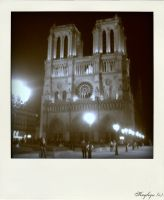 Extract of Paris #3, Notre Dame, Polaroid style by Kayleyn