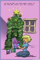 Swamp Thing X-mas Card 2010 by Abt-Nihil