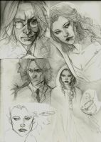 Rumbelle sketches by Patatat