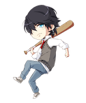Chibi Nate -Colored- by AquaJet