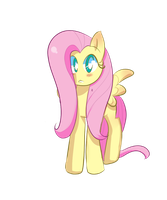 Fluttershy..staring blankly..?idk by PivixKyte