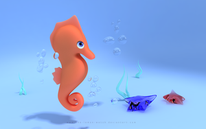 Marine Toy - Seahorse by THE-LEMON-WATCH