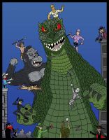 Godzilla Versus... by Lordwormm