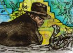 Snakes! Indiana Jones Sketch Card by Jack Chattox by JChattox