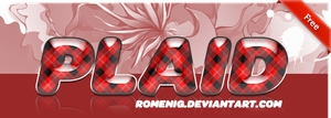Red Plaid Layer Style by Romenig