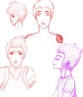 Boy Sketches by WillowKid