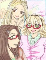 Big Bang Theory Girls by AnimeJanice