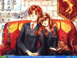 Hermione and Ron by LindyArt