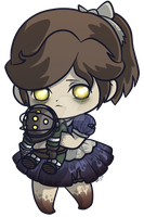 Little Sister _ Bioshock Chibi Charm by pinkplaidrobot