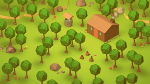 The Cabin (Low Poly Isometric) by error-23