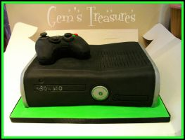 Xbox 360 And Controller Cake by gertygetsgangster