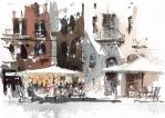 Cafe-in-Rome-by-tony-belobrajdic by artiscon