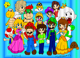 Mario Group by AkiraHoshi-chan