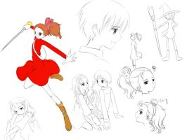 Arrietty Doodles by Evelynism