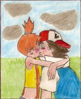 Ash and Misty Kiss by Toughguy1415