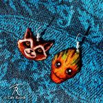 Rocket And Groot Earrings by TrollGirl