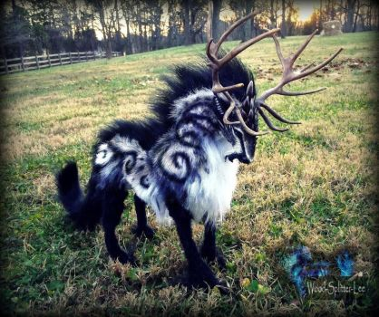 --SOLD--Posable Fantasy Prehistoric Tundra Stag! by Wood-Splitter-Lee