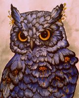 Flower Owl by Vauhtipatti