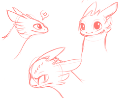 Toothless Sketches by Wolf-Spirit99