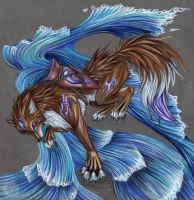 Aquarius Wolf by EnigmaticPhantasy