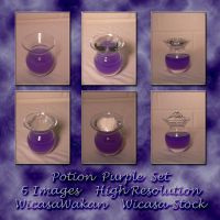 Potion purple set wicasa-stock by Wicasa-stock