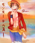 Monkey D. Luffy (FanArt) by raineeerainy