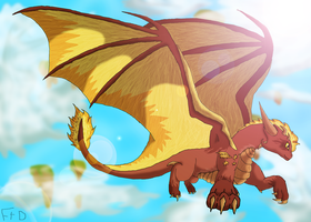 Flare Flying -REMAKE- by SuperSonicFireDragon