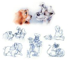 Lady and the Tramp - Sketches by jeremiasch