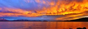 Amazing Panoramic Sunset Utah by houstonryan