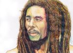 Bob Marley Ballpoint Pen Drawing by demoose21