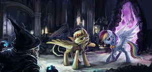 Commission 22 - We Won't Let You by The-Keyblade-Pony