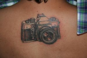 slr camera tattoo by purpleturtlealien